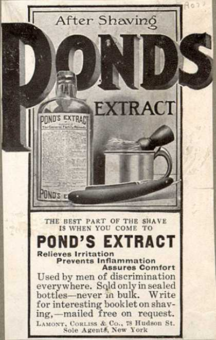 Pond's Extract Co.'s Pond's Extract – After Shaving. Pond's Extract. (1907)