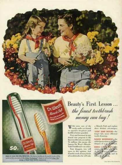 Beauty's First Lesson Fine Toothbrush Dr. Wests (1944)