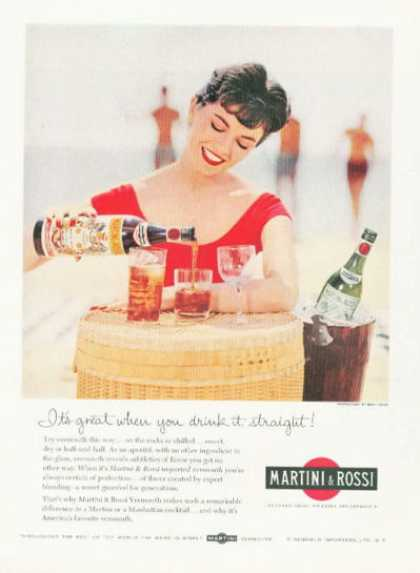 Martini & Rossi Vermouth Photo Ad Bottle (1959)