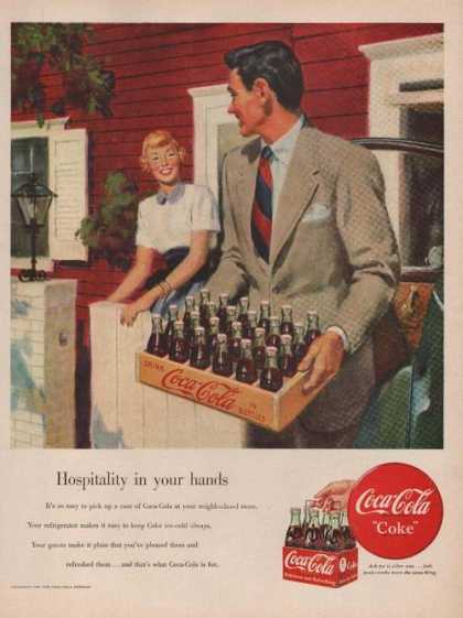Man With Case of Coca Cola Soda (1949)