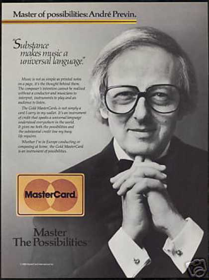 Andre Previn Photo Gold Mastercard Vintage (1986)