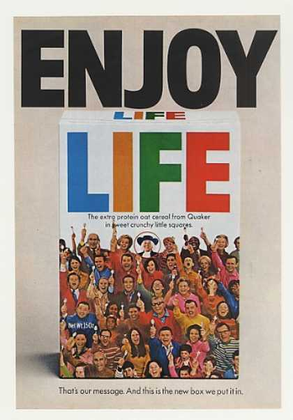 Enjoy Life Cereal New Box Photo (1970)