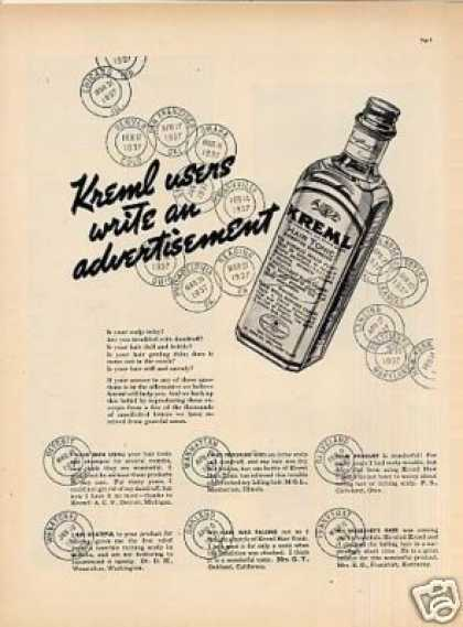 Kreml Hair Tonic (1937)
