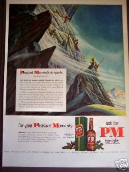 Wymper Climbs Matterhorn Pm Whiskey Art (1951)