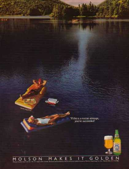 Molson Beer – If this is a rescue attempt, you've succeeded (1986)