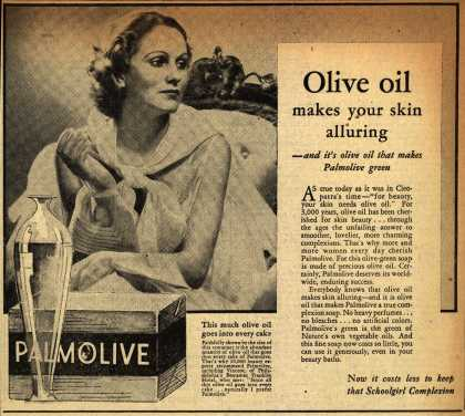 Colgate-Palmolive-Peet Company's Palmolive Soap – Olive oil makes your skin alluring (1933)
