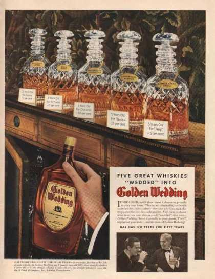 Five Great Whiskies Golden Wedding Print A (1942)