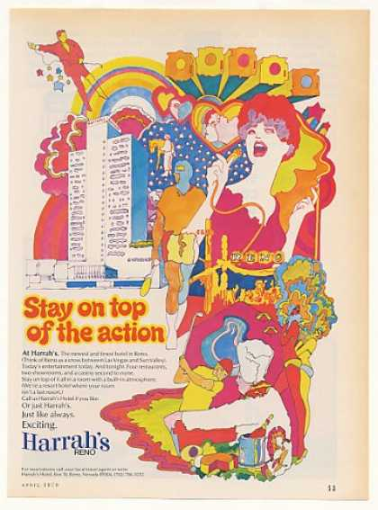 Harrah's Hotel Reno Stay on Top of the Action (1970)