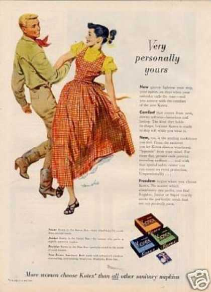Kotex Sanitary Napkins (1950)