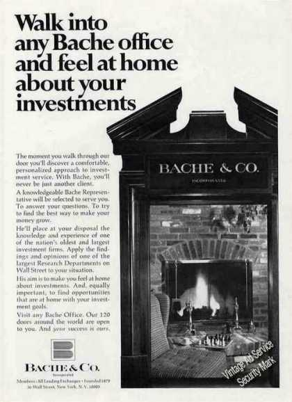 "Bache & Co. ""Feel at Home About Investments"" (1968)"