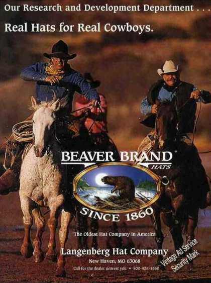"Beaver Brand ""Real Hats for Real Cowboys' (1999)"