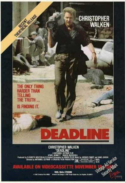 Christopher Walken Deadline Movie Promo (1987)