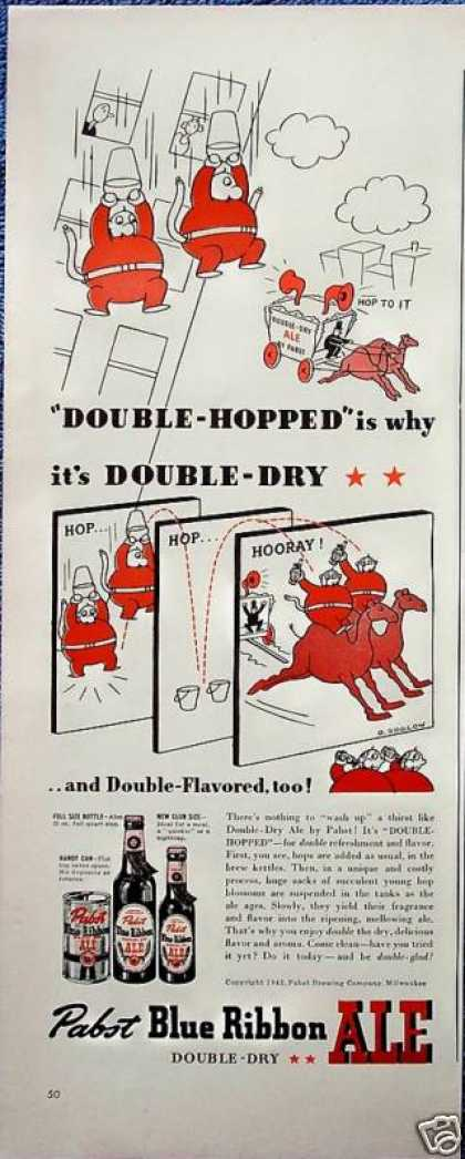 Pabst Blue Ribbon Beer Window Washers Fall Camels (1942)