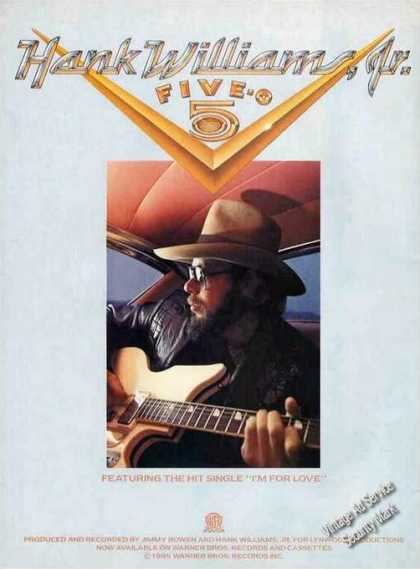 Hank Williams Jr. Photo Music Album (1985)