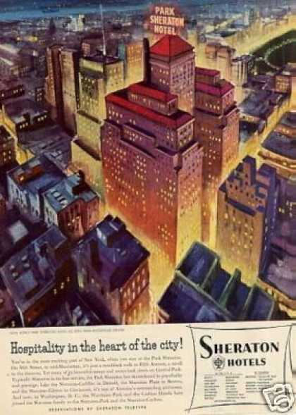 Sheraton Hotel Ad New York (1953)