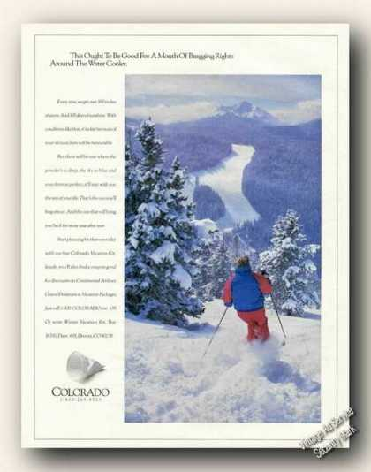 Beautiful Colorado Ski Scene Photo Travel (1991)