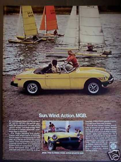 British Leyland Mg Mgb at the Beach Sports Car (1978)