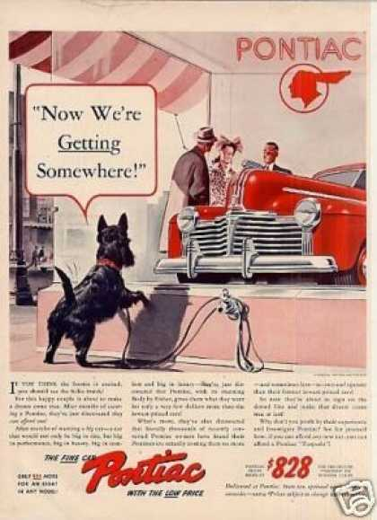 "Pontiac Car Ad ""Now Where Getting Somewhere... (1941)"
