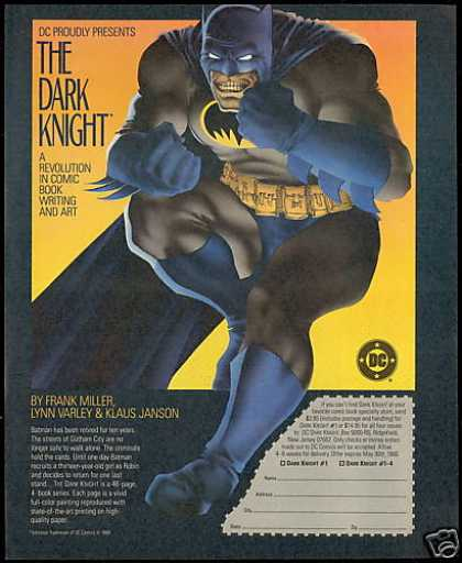 Batman The Dark Knight DC Comic Book Series (1986)
