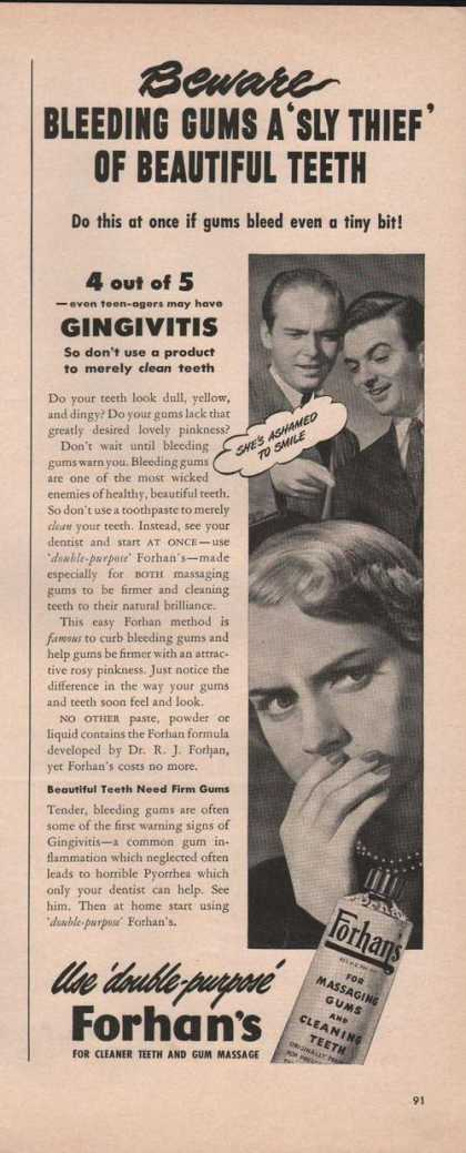 Forhans Massaging Gums & Cleaning Teeth (1949)