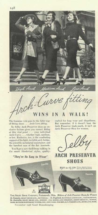 Selby Arch Preserver Womens Shoes (1936)