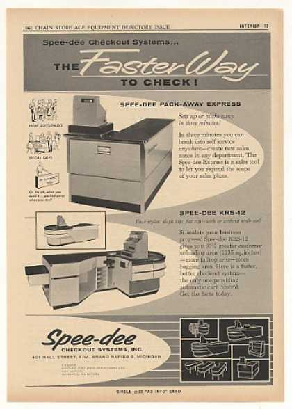 Spee-dee Retail Store Checkout System Trade (1961)