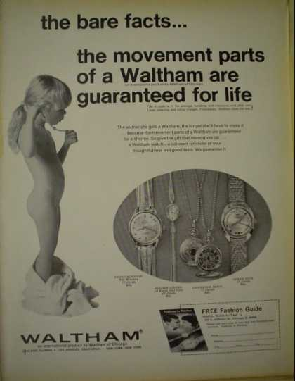 Waltham watches The bare facts Little girl (1968)