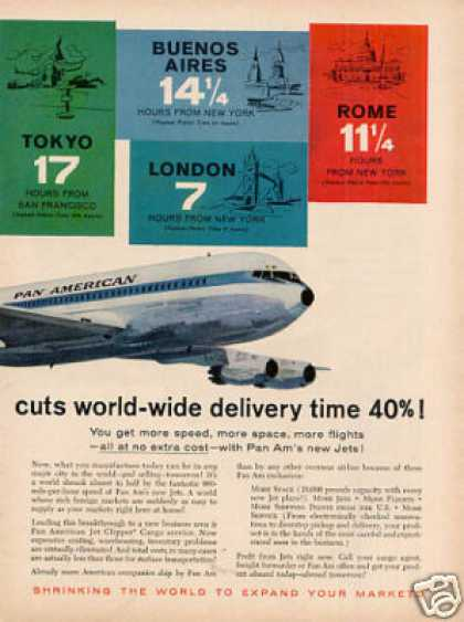 Pan American Airlines Ad 2 Page (1959)