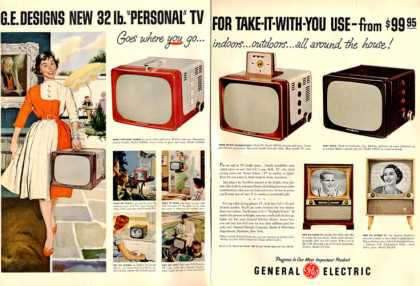 General Electric Tv Television 5 Models (1955)