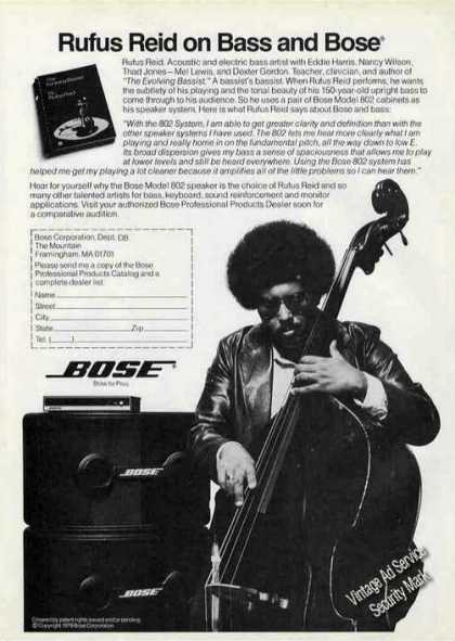 Rufus Reid Photo Bass Artist Bose (1981)