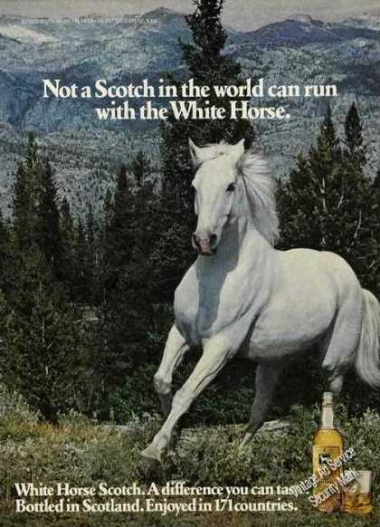 Beautiful White Horse Running Scotch (1978)