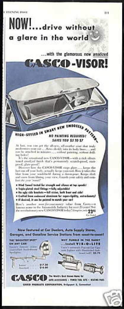 Casco Car Visor Spotlight Cigarette Lighter (1949)