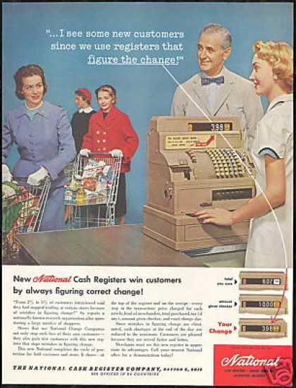 NCR National Cash Register Grocery Cart (1957)
