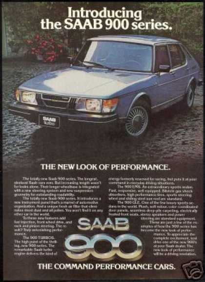 Saab 900 Series 4 Door Color Photo Car (1979)