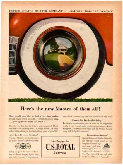 U S Royal Master Tire – Here's the new Master of them all (1948)