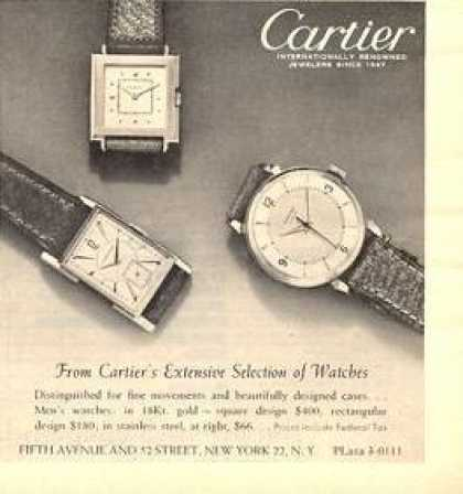 Cartier Mens Watches (1950)