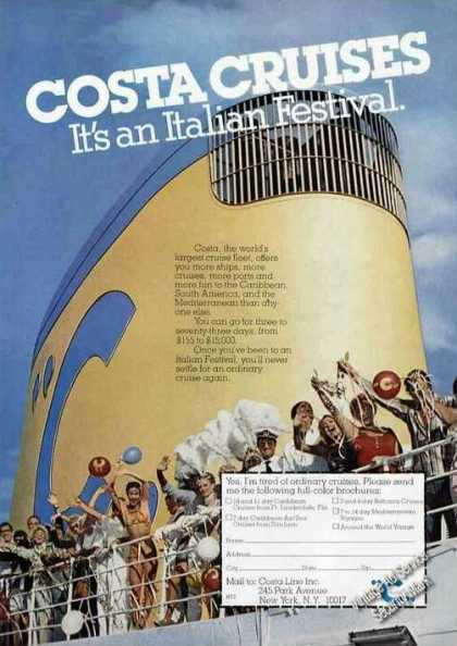 "Costa Cruises ""It's an Italian Festival"" (1978)"
