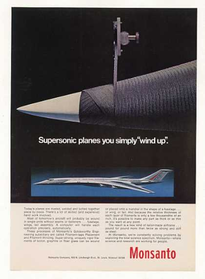 '69 Supersonic Airplane Monsanto Filament Tape (1969)