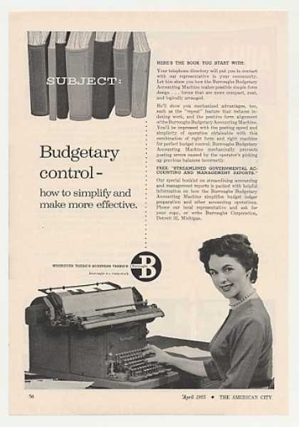 Burroughs Budgetary Accounting Machine (1955)