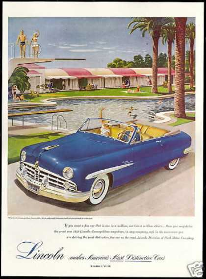 Lincoln Cosmopolitan Convertible Car Pool (1949)