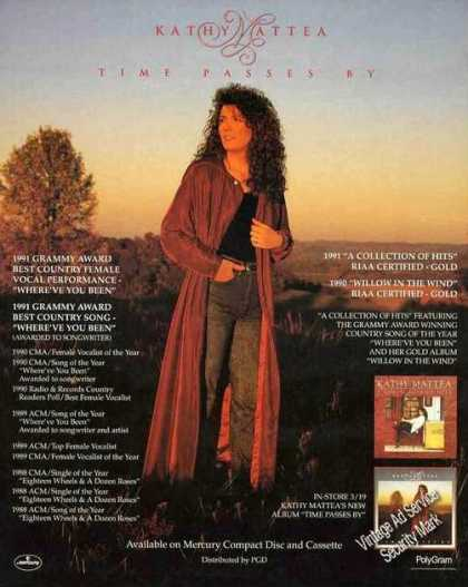 "Kathy Mattea Photo ""Time Passes By"" Album (1991)"