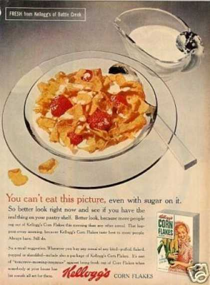 Kellogg's Corn Flakes Cereal (1954)