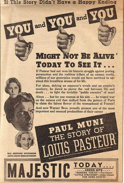 The Story of Louis Pasteur (Paul Muni, Josephine Hutchinson, Anita Louise and Donald Woods) (1936)