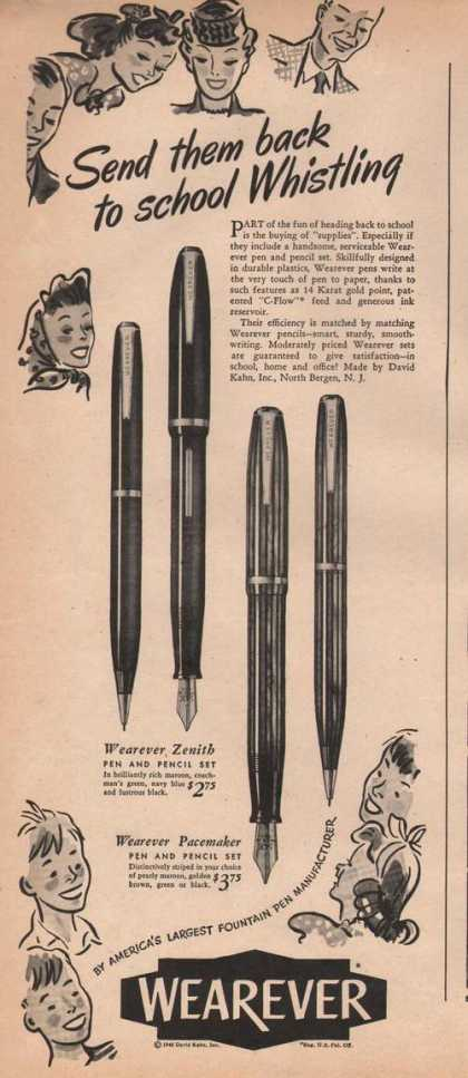 Wearever Zenith & Pacemaker Pen & Pencil A (1946)
