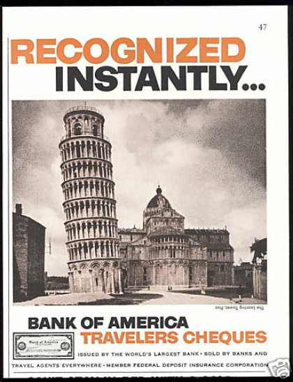 Leaning Tower of Pisa Bank of America (1956)
