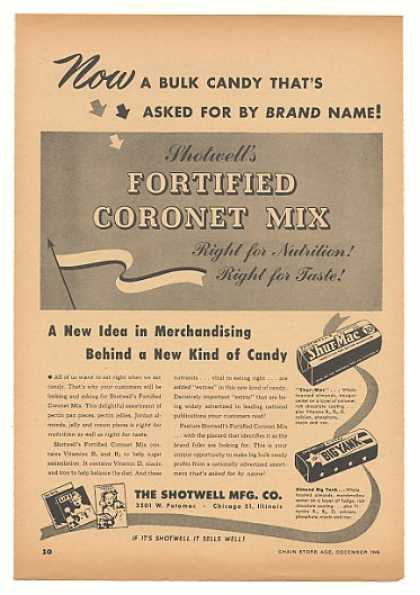 Shotwell Fortified Coronet Mix Candy Trade (1946)