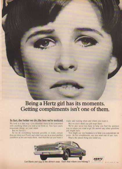 Hertz Rental Car – Being a Hertz Girl – Sold (1966)