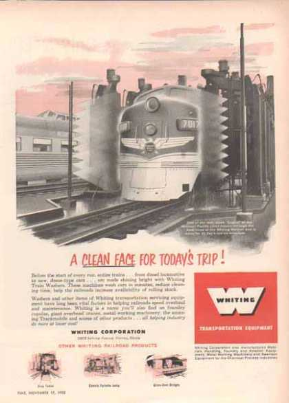 Whiting Transport Equipment Ad- Missouri Pacific Lines (1952)