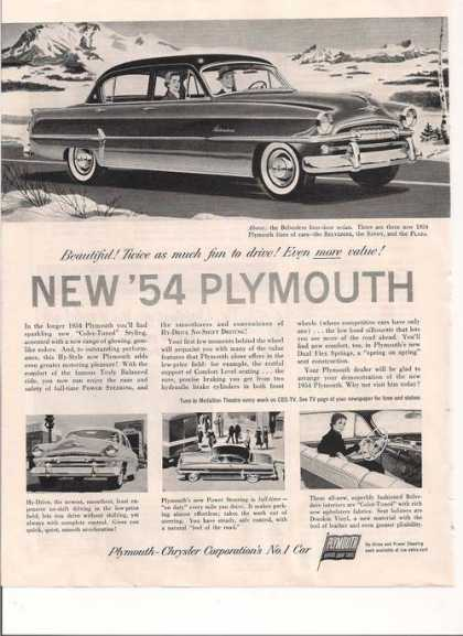 New 1954 Plymouth Belvedere (1953)