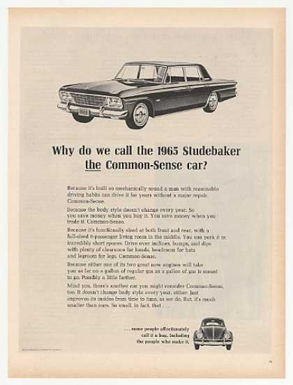Studebaker Cruiser Common Sense Car vs VW Bug (1965)